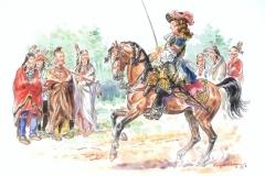 officier-du-régiment-Carignan-Sallières-non-Royal-en-1665